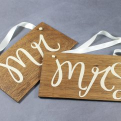 Mr And Mrs Chair Signs Serta Warranty Contact For Wedding Decor