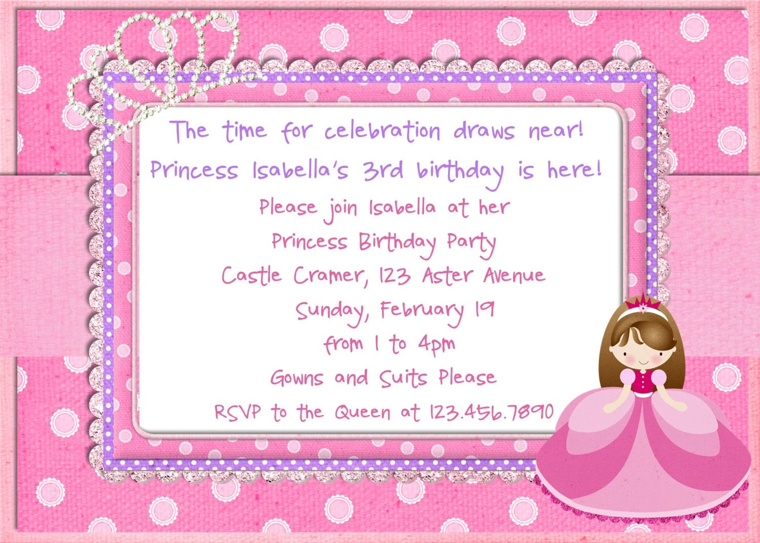 Barbie Birthday Invitation Wording