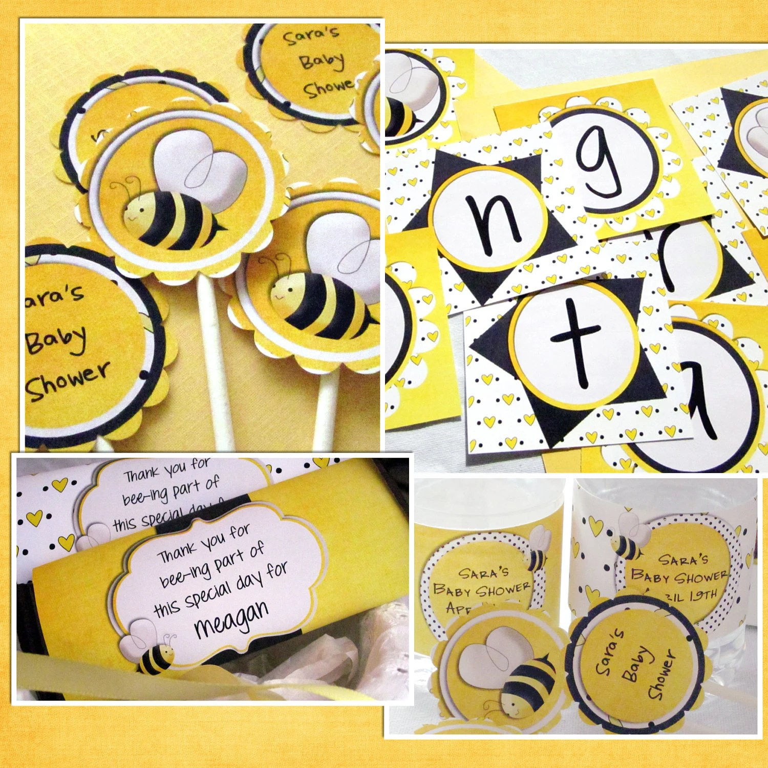 Items Similar To Bee Baby Shower Package