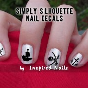 pirate nail decals black and clear