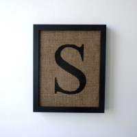 Letter S burlap wall decor alphabet art monogram by laxtoyvr