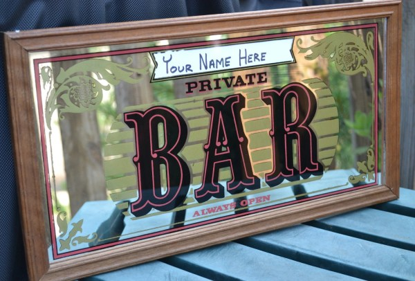 Vintage Personalized Private Bar Mirror