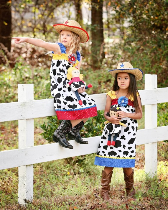 Disney dress cowgirl Jessie Toy Story Tween Birthday country fair Picnic AVAILABLE sizes 6m 9m 12m 18m 2t 3t 4t 5 6 7 8 10 12 - GinaBellas1