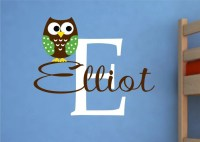 Owl Wall Decal Name Wall Decal Childrens Wall Decals by ...