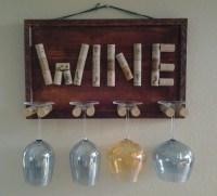 Decorative Wine Glass Holder by GulfCoasters on Etsy