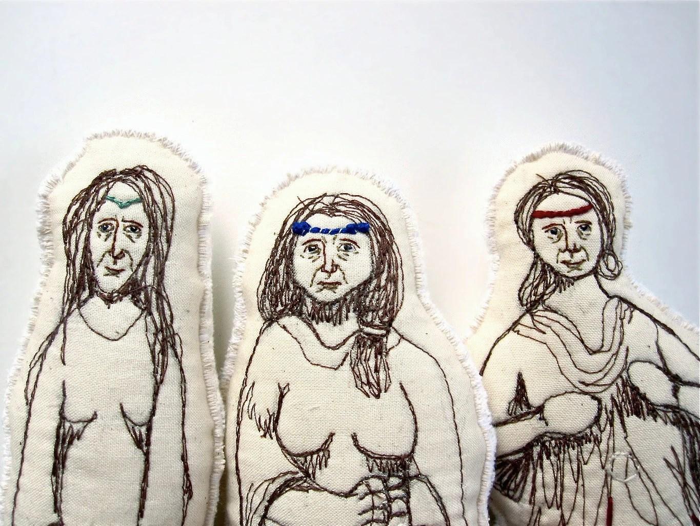 Fairytale Art Dolls. The Fates. Greek Mythology toys by Aly Parrott on Etsy.