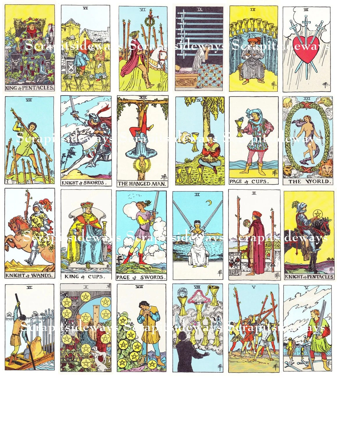 Free Printable Tarot Card Meanings