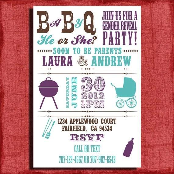 Printable Baby Q Invitations