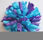 turquoise blue & purple korker