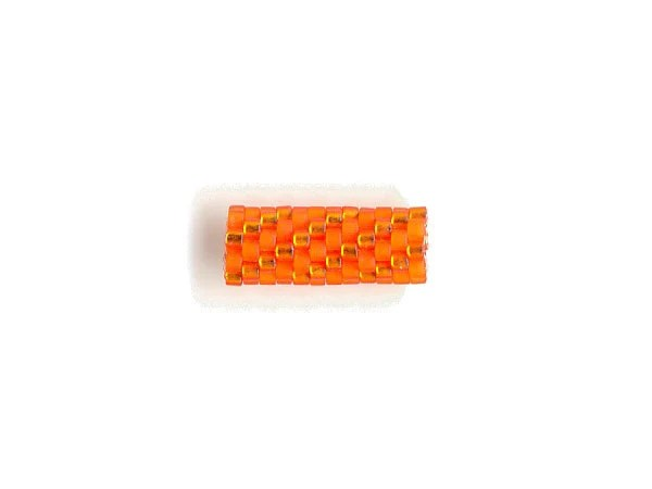 Woven Glass Bead Tube 6mm/o 2mm/i (S) - BeadsWovenToOrder