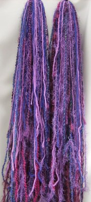 purple yarn falls hair extensions