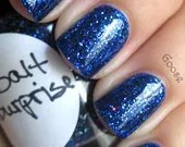 Cobalt Surprise: Custom Blended Glitter Nail Polish/Lacquer - parissparkles