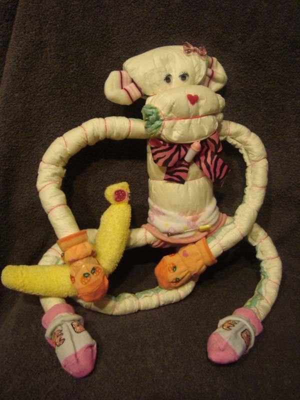 Items Similar Diaper Cake - Monkey Baby Shower