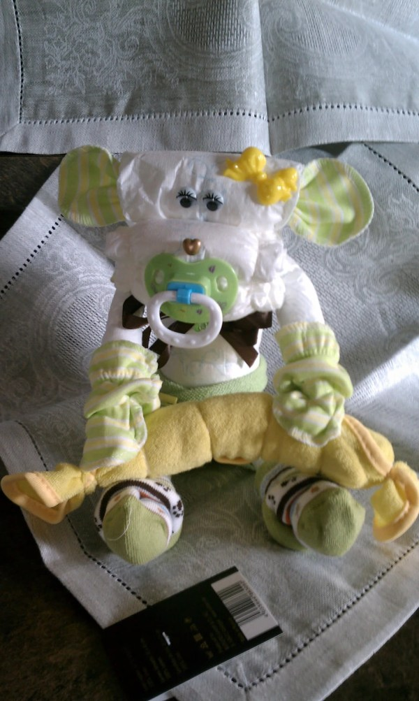Diaper Cake Baby Monkey Shower Whatanoccasion