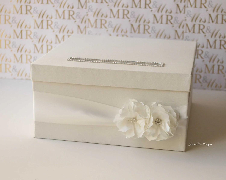 White Wedding Card Box