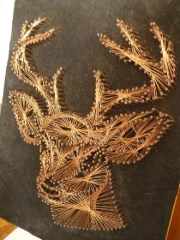 vintage 3d copper nail and wire