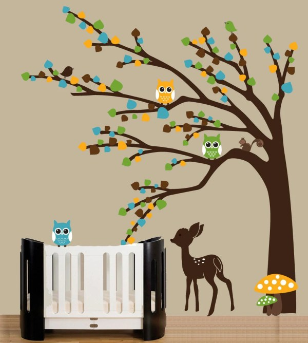 Deer and Tree Wall Decal