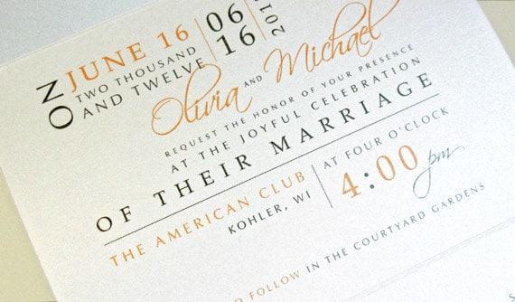 Seal and Send Postcard Wedding Invitation