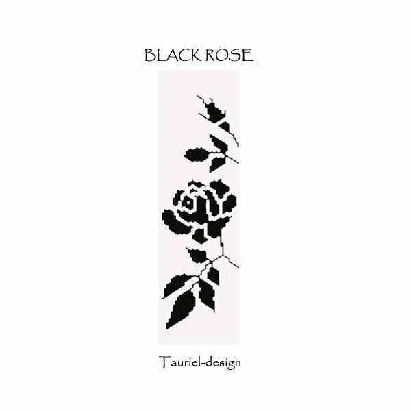 Pattern peyote bracelet Black Rose by Tauriel on Etsy