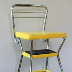 Chair Step Stool Barber Chairs For Cheap Vintage Yellow Cosco