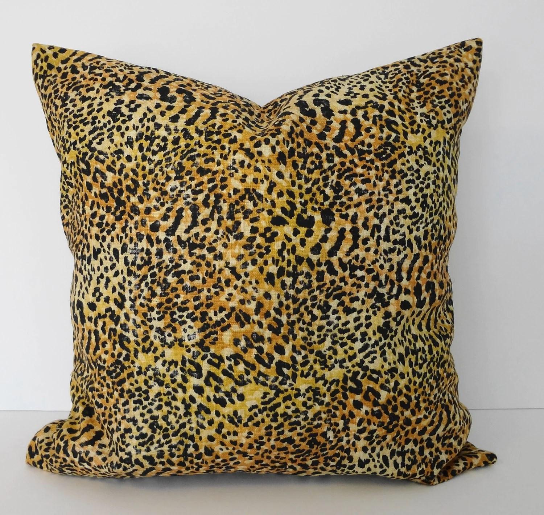 Cheetah Leopard Print Decorative Pillow Cover Black and
