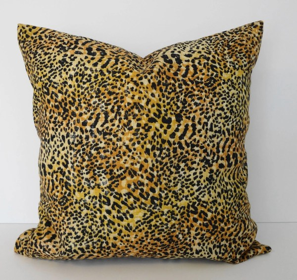 Cheetah Leopard Print Decorative Pillow Cover Black