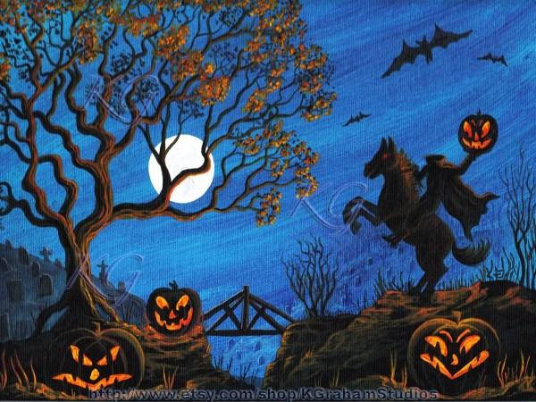 Halloween Headless Horseman Art