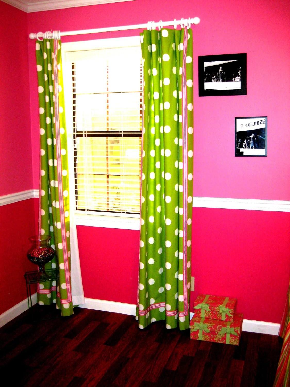 Bright Green Curtains