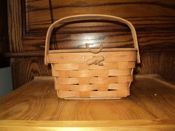 Vintage Longaberger Basket With Covered Lid Signed And Dated