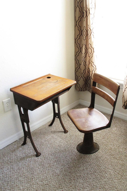 Sale Antique School Desk And Chair