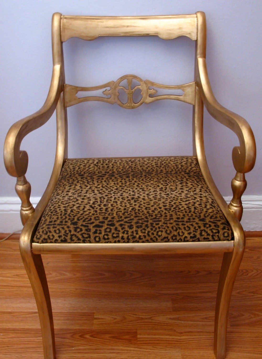 leopard print accent chair bedroom under £100 items similar to gold & upcycled side on etsy