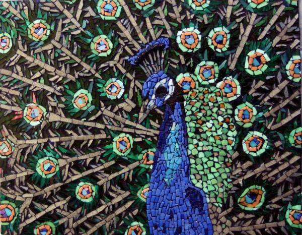 Peacock Glass Mosaic Tile