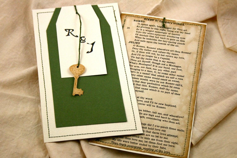 Romeo And Juliet Wedding Invitations: Wedding Invitation / Vintage Wedding Shower Invitation