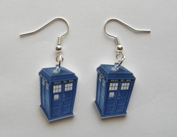 Dr Who Tardis  Earrings