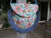 SALE-  Spring Garden Bag with Tassles and Crystals - TrishasTreasure
