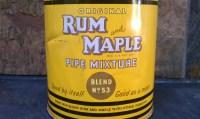 1949 Rum & Maple Pipe Tobacco MixtureTin