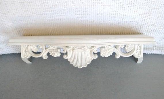 Shabby Chic Heirloom White Ornate Resin Shelf By BeautiSHE