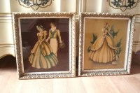 Gorgeous Pair of Turner 1950 Framed Wall Art by Vintiqued