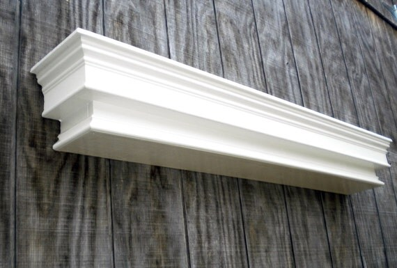 Custom Wall Hanging Shelf Large White Wall By