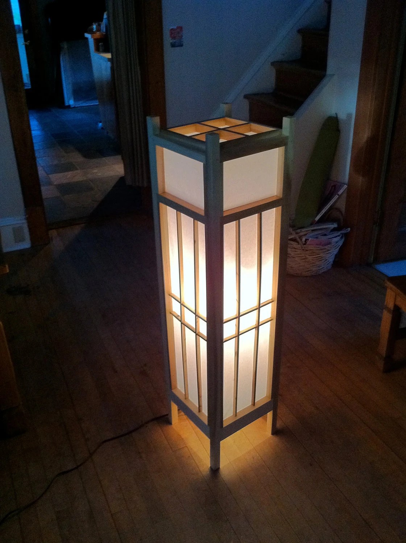 Items similar to Jurojin 4 Shoji Floor Lamp on Etsy