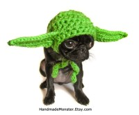 extra small STAR WARS DOG hat costume yoda inspired pet