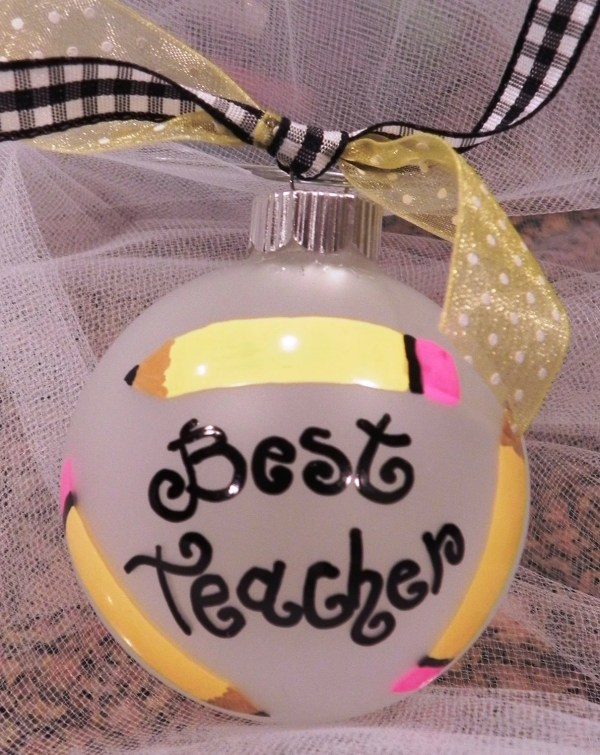 Hand Painted Christmas Ornament Teacher