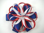 red white and blue hair bow labor