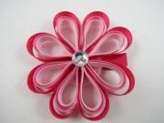 pink flower ribbon sculpture hair
