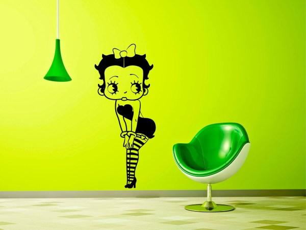 Betty Boop Vinyl Wall Decal Creepygoatgraphics