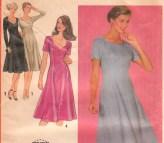 Princess Seam Dress Pattern Simplicity 9505 Size 14 1 2 Uncut