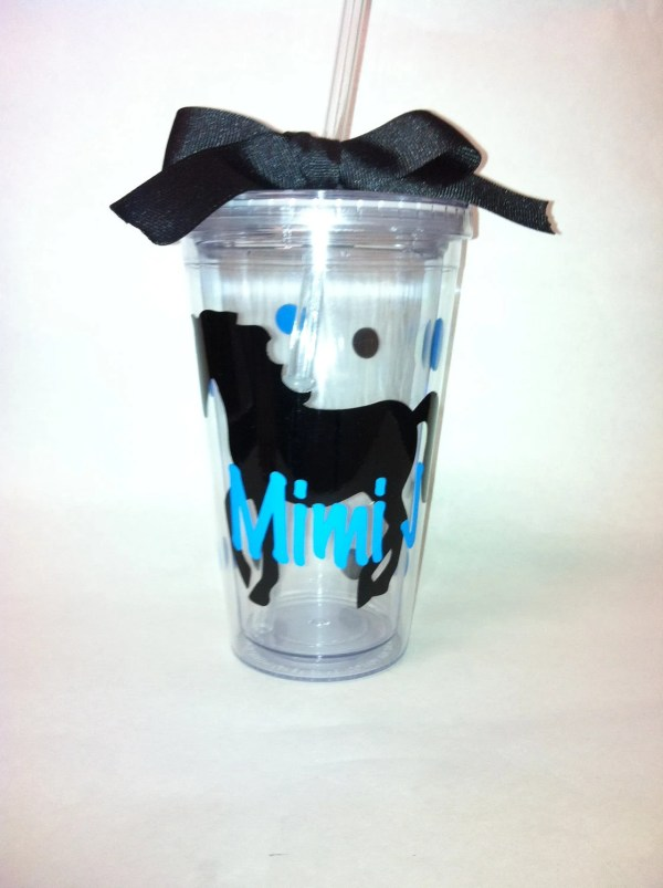 Personalized Acrylic Straw Cup With Horse