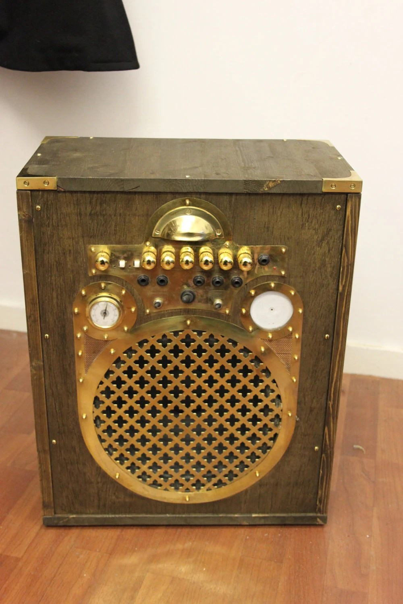 Steampunk Guitar Amplifier Steampunk Wooden Cased Amp