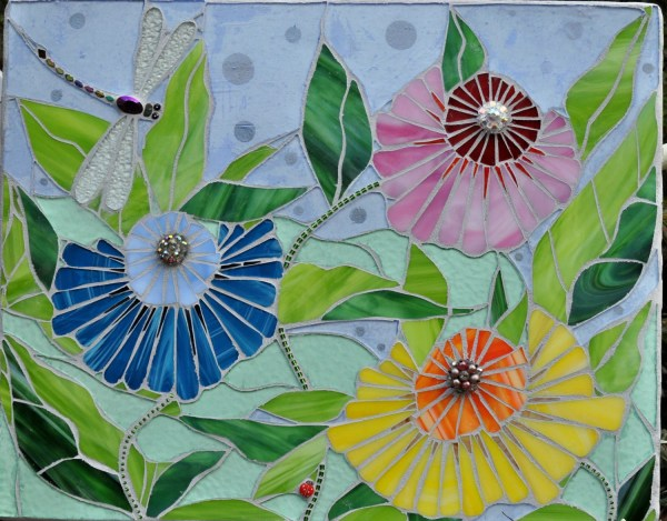 Stained Glass Garden Mosaic Of Kind Wall Art Apomps