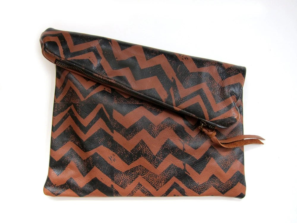 Leather Clutch by ARC of LA